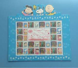 香港2005年Snoopy郵票小版張套摺