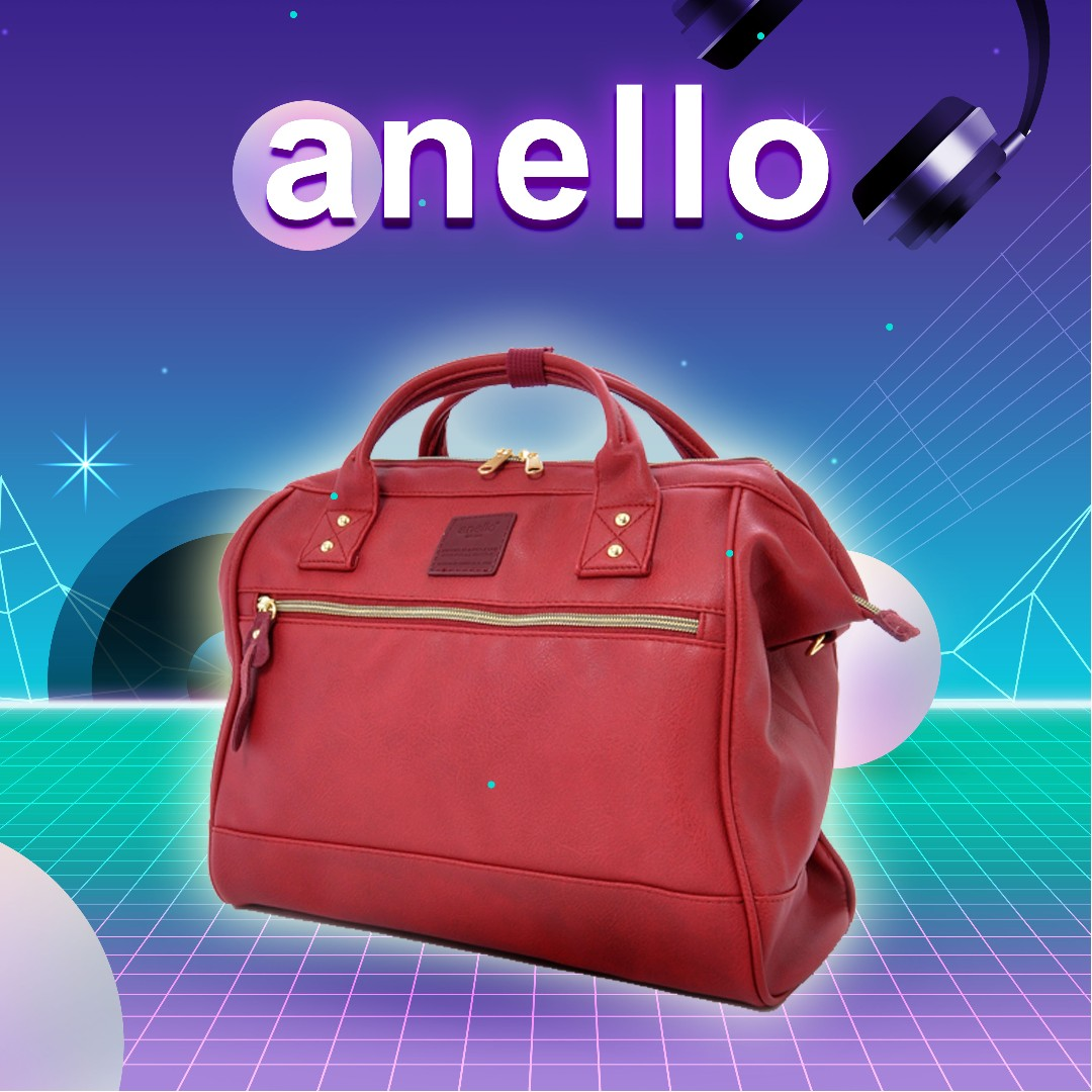 100% Authentic Japan Anello Faux Leather Hinged Clasp Shoulder Bag (Wine),  Women s Fashion, Bags   Wallets on Carousell ab65210d3f