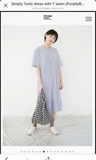 Stranger room simply tunic dress with T seam