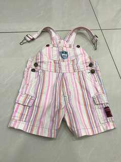 🚚 小童條紋吊帶褲