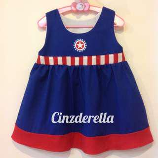 Brand New Justice League Captain America Girls Dress