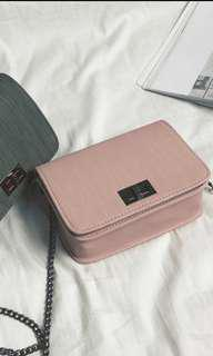 Sling Chained Pink Casual Bag