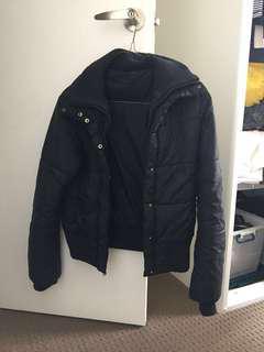 Black parka/bomber/puffer jacket