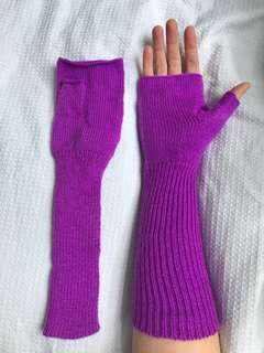 Free with purchase Hand warmer glove mittens things purple