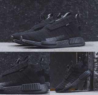 🚚 Adidas NMD TS1 Gore-Tex Primeknit Triple Black Shoe