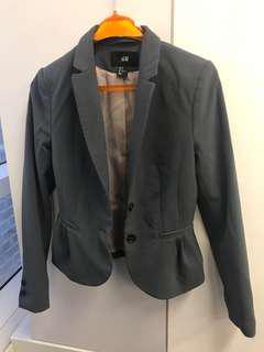女裝西裝外套 H&M 灰色 90% new