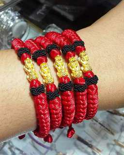 Gelang tali emas naga 24 karata