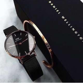 Authentic Daniel Wellington Watch + Bracelet