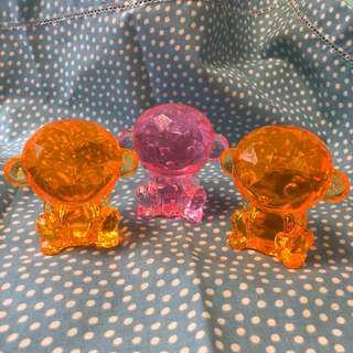 小猴 冒險樂園水晶膠 / 家居裝飾 (3件)