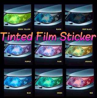 Headlight Tint film protection
