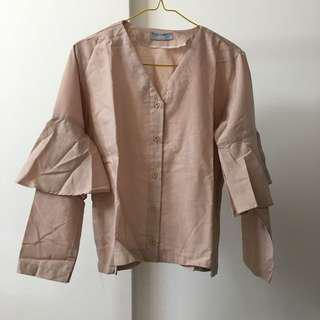 Dusty pink top by MIROIR