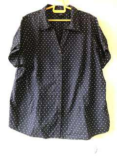 Oversize navy blue blouse