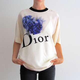 DIOR Vintage Christian Dior - Silk Tee Shirt