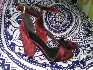 Parisian Maroon Ankle Strap