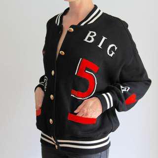 ESCADA Vintage Bomber, Jacket, Shirt, Cotton Knit