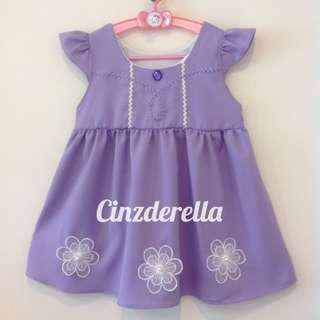 Brand New Disney Sofia The First Girls Dress