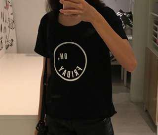 T-shirt H&M hitam