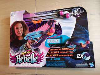 New Nerf Rebelle Courage Crossbow with Whistling Arrows by Hasbro