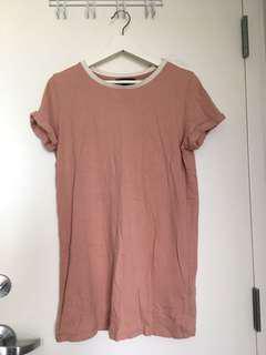 pink ringer tee tshirt dress