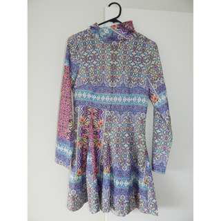 Women's Stelly Coloured Moroccan Patterened Paradisco Purple Size 8