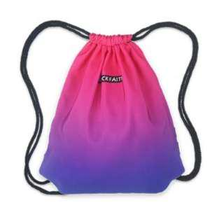 ombre drawstring backpack