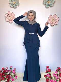 Ayda Pleated Peplum Kurung