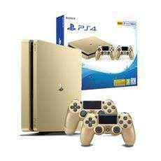 PS4 500GB Slim Console Gold with extra controler - Export Set