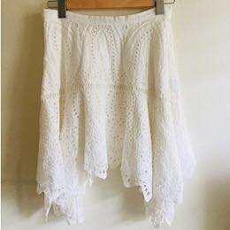 Forever New White Skirt Sz 8