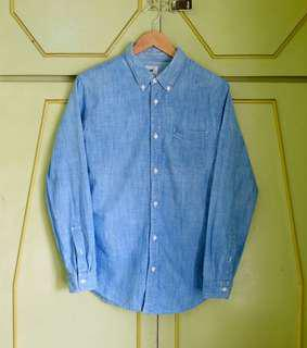 Authentic Lee Chambray Button Down Shirt