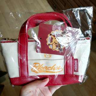 🆕💯 Pokemon Center's Pikachu Mini Bag Pouch Tote