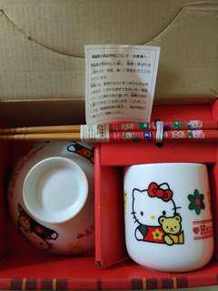 私人珍藏 Hello Kitty 餐具套裝, made in japan, 100%new