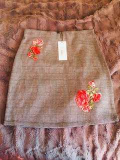 Valleygirl checkered skirt