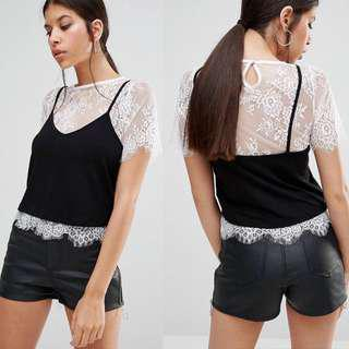 ASOS 2 In 1 Lace Cami Top