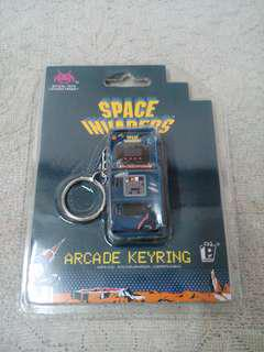 Retro Space Invaders Arcade Keychain