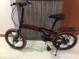 (Lowered! Fixed price!) 20 inch Foldable Bicycle alloy frame with magnesium rim