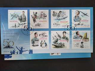 Singapore Republic of Singapore Air Force 50th anniversary First Day Cover Stamp