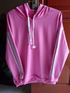 Jaket/Sweater Hoodie Babbyterry PINK #kirimgratis