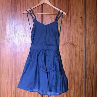 Denim Open-back Dress (New with tag)