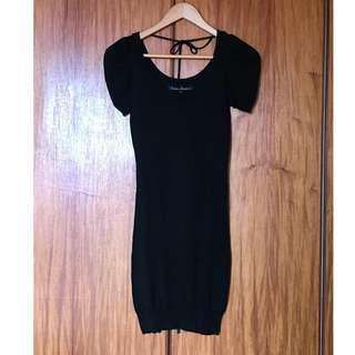 Kamiseta Black Knit Dress