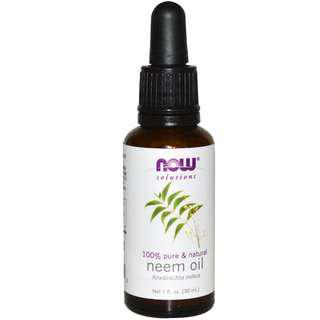 100% Pure Neem Oil, Now Foods Solutions (30 ml)