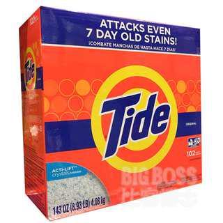TIDE 汰漬 濃縮強效 洗衣粉 洗衣精 4.08公斤【BigBoss比客博士】好市多 Costco 代購 代買
