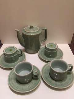 龙泉9头直线茶具
