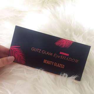 Glitzglam eyeshadow palette beauty glazed glitter
