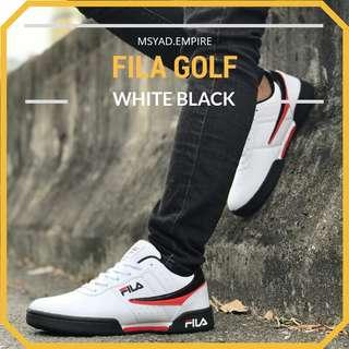 d7c027382 FILA GOLF BLACK WHITE READYSTOCK
