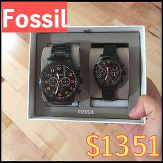 Fossil情侶錶$1351