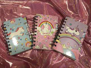 Sweet unicorn notebooks