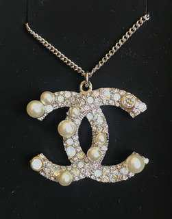 Chanel Pearl Double C Silver chain