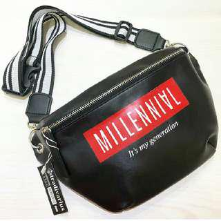 millenial stradivarius waistbag