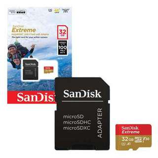 Brand new SanDisk EXTREME MicroSd 32Gb selling at $18.90