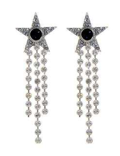 🤩Good deal $138 Chanel Style zircon Bling Bling Star tassel earring  (included local postage )